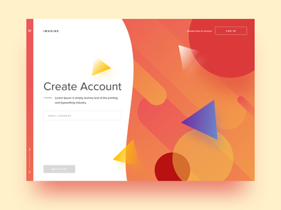 Create Account (Figma) figma colorful red geometric material gradients account sign-up
