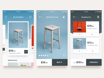 App Screens simple clean animated mock-up interactions mock-up app screens mobile shopping app user design user experience adobe xd