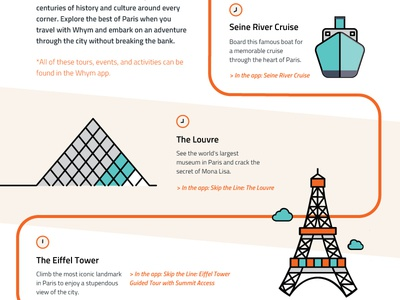 A Day In Paris With Whym Small graphicdesign illustration whym infographic