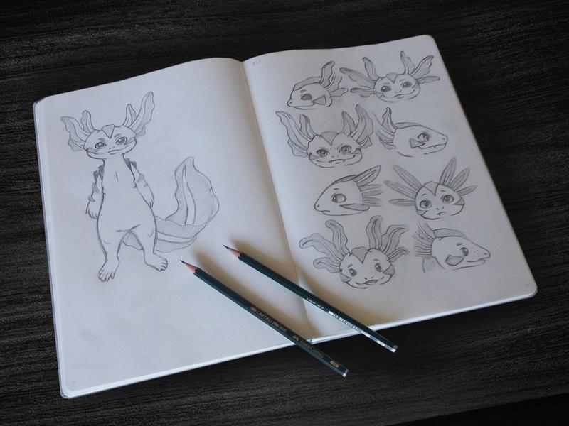 Axl game design character art illustration