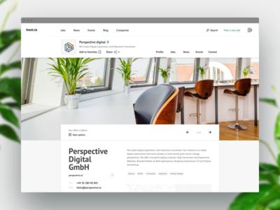 Job board — Company page