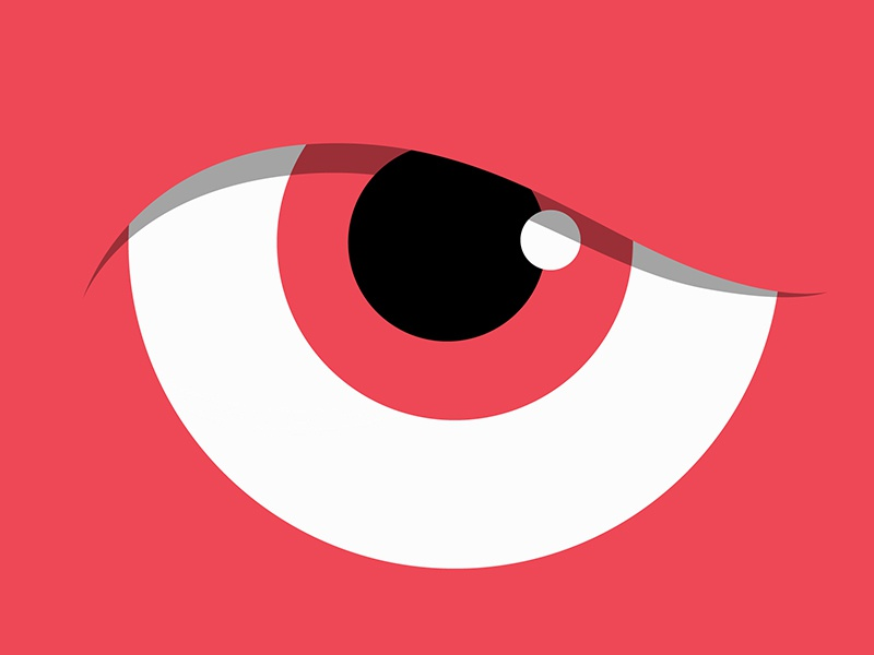 Red Eye red rage vector cartoon eyes angry illustration