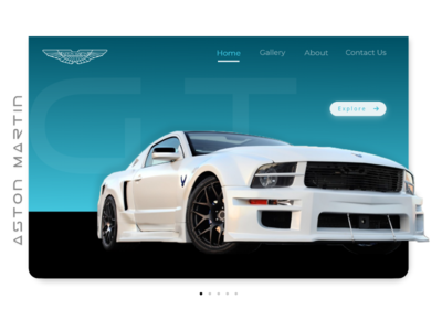 Aston martin landing page