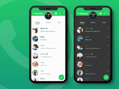 WhatsApp Redesigned chat app design ux ui whatsapp