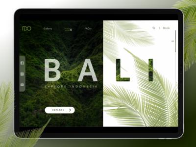 Travel Bali -Landing Page Design