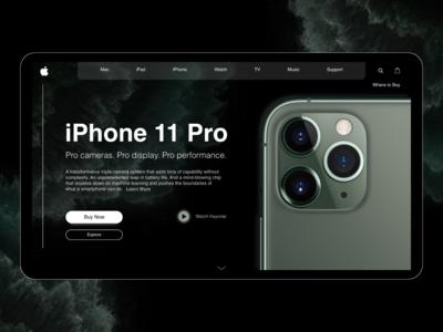 iPhone 11 Landing Page Design