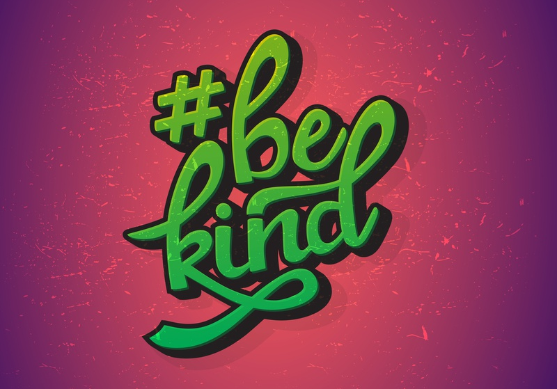 #BeKind tshirt design hand lettering vector illustrator design custom lettering bekind