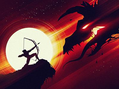 Amber Dawn dragon bow arrow battle flight