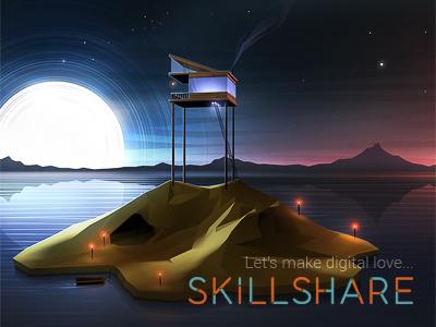 Join me! skillshare lesson course illustration modeling texturing