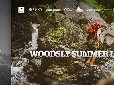 Woodsly Interactive Lookbook web photography parallax outdoors onepage