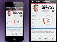 LA Kings App Player page