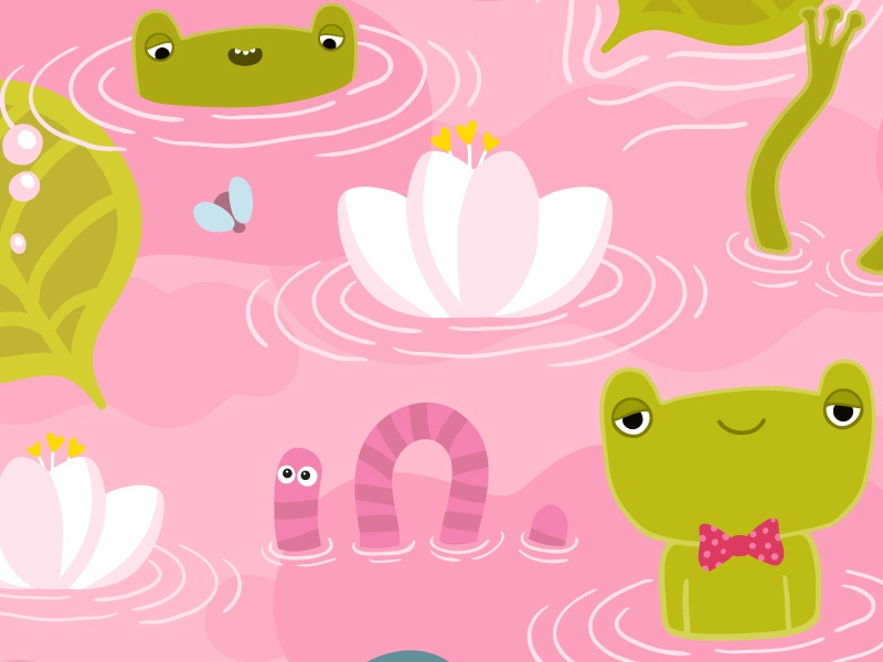 Frog Pattern character frog illustration cartoon pattern