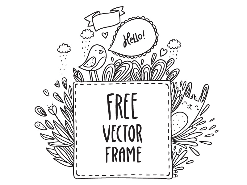 Free Doodle Frame By Anna Alekseeva Dribbble