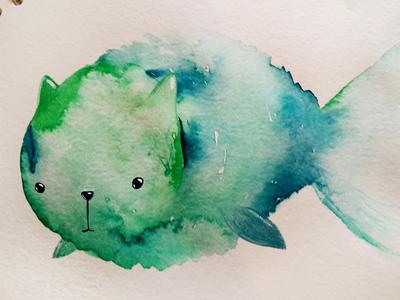 Watercolor catfish