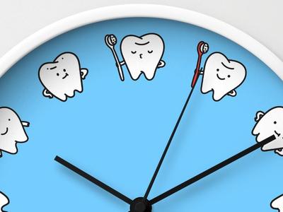 Teeth Family Wall Clocks