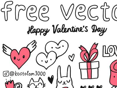 FREE Valentines sketch Set