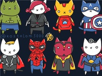 Meowengers. Avengers Cats