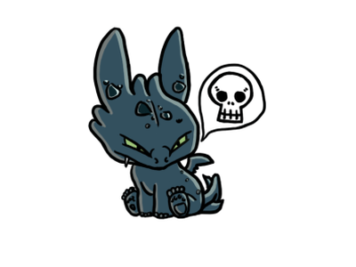 Twitch Emote - Angry Baby Toothless cartoon character cartooning cartoon toothless paintings photoshop painting design art illustration emote twitchemote twitch
