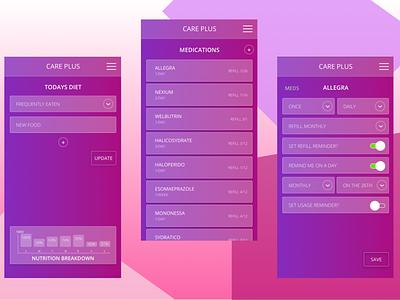 Care+ App prototype ui  ux design app branding application ui ux design ux  ui uidesign design