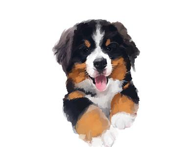 Watercolor Pup photoshop watercolor painting artist art paintings paint illustration