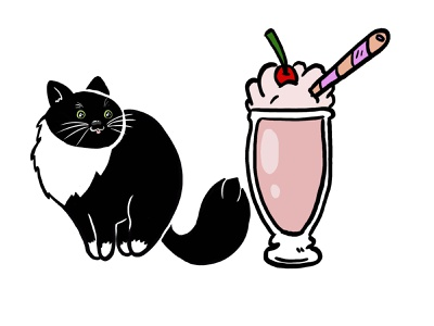 Milkshake(s) milkshake cat photoshop art sketch drawing doodle photoshop painting illustration