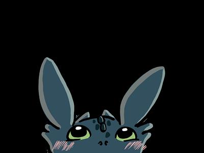 Baby Toothless twitchemote twitch emote toothless illustration