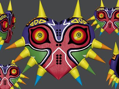 Majora's Mask 3D Model mask majora video game video games gaming maya model 3d zelda