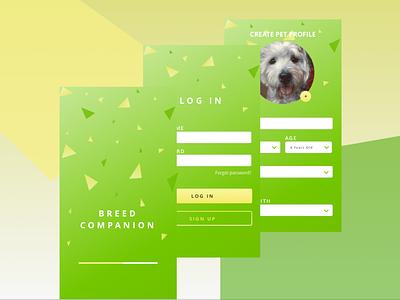 Breed Companion Application Concept application development application design application branding visual uidesign ux design ux  ui human computer interaction hci ux