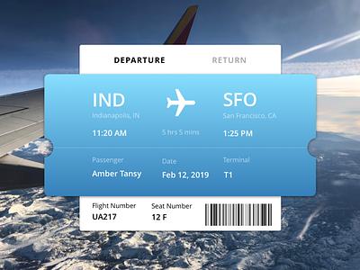 Plane Ticket Concept application ui web icon typography vector ui logo illustration design branding ux  ui ux design ux uidesign plane ticket ticket airplane plane flying