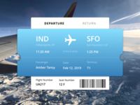 Plane Ticket Concept