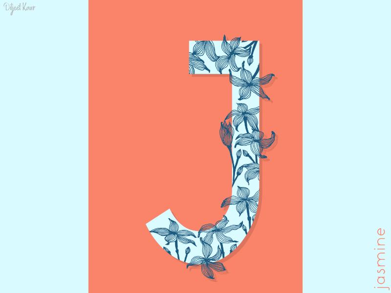 The Letter Series: J drawing illustration alphabet lettering letter typography doodle art design