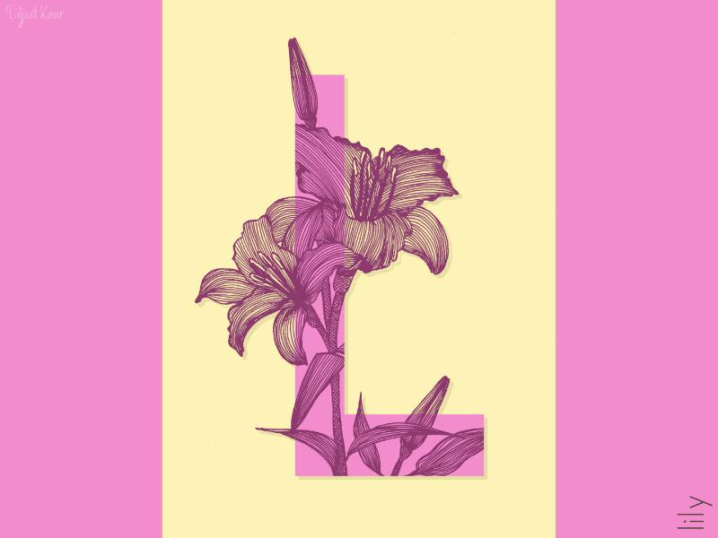 The Letter Series: L drawing illustration alphabet lettering letter typography doodle art design
