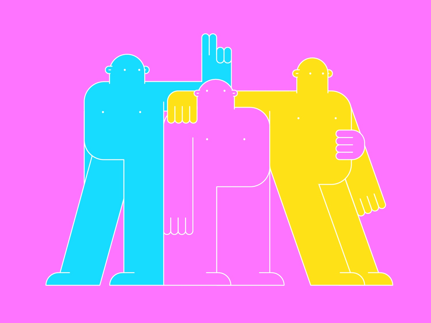 Colourful people illustration colourful colour character people