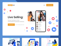 Live Selling Landing Page