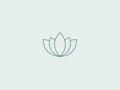 Minimal Lotus Icon