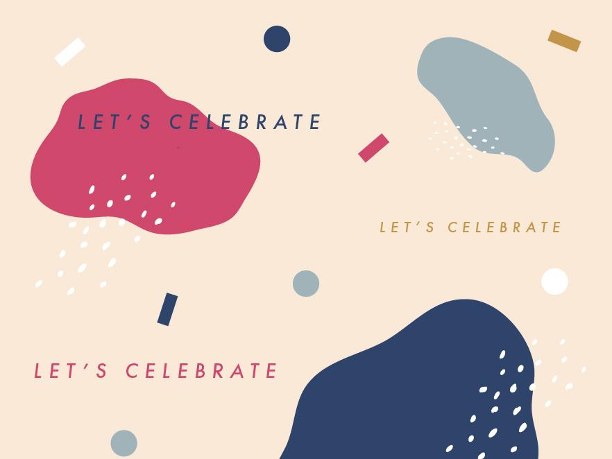 Let's celebrate pattern vector illustration confetti celebrate patterndesign graphicdesign design pattern