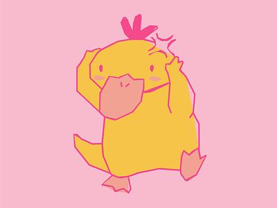 PSY-AY-AY! (Psyduck) psychic duck anime handmade pastel pink girly pokemon psyduck character adorable texan san antonio distressed cute kawaii