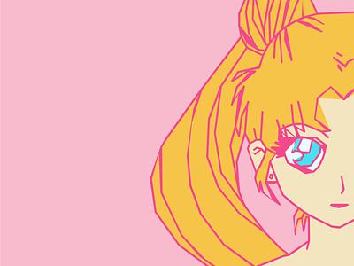 Usagi Tsukino girly saf anime san antonio illustration character pink cute kawaii adorable usagi