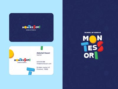 Montessori baby logo sweet toys cartoon kid kindergarten school kids