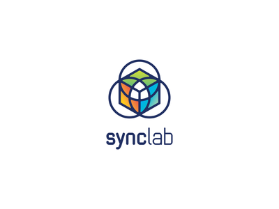 SyncLab game play colours symbol vr virtual reality augmented logo developers