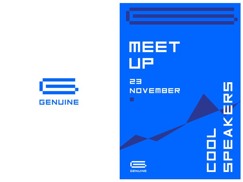 Genuine hi-tech blue logotype future futuristic tech digital logo g
