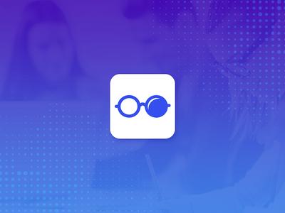 Scooler Button student app button glasses icon smart school cool