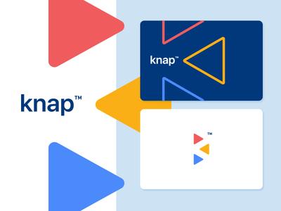 Knap™ identity brand cards web fun colors negative smart playful colorful logo k