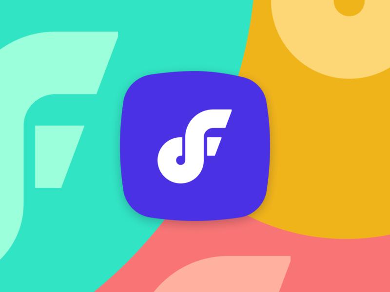 Deepflow Branding identity vibrant colors logo branding