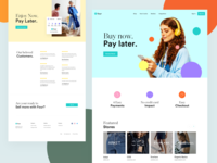 Pay with Four - Shoppers ecommerce four clothing payment pay design app webdesign website redesign clean ui modern