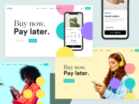 Pay with Four - Hero Exploration exploration hero section payment pay ecommerce clothing app design webdesign app hero redesign ui clean modern