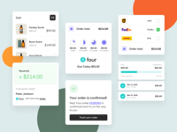 Pay with Four - Website Illustrations clothing payment pay uiux illustration element design clothes simple app webdesign website redesign clean ui modern