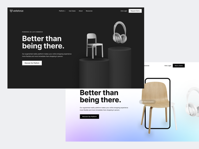 Vertebrae Landing Page vertebrae app website webdesign redesign ui clean modern
