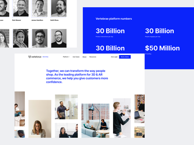 Vertebrae Landing Page vertebrae app website webdesign redesign clean modern