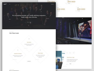 Classy website companies company sapie platform simple elegant classy ui redesign